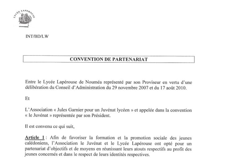la convention de partenariat avec le lyc u00e9e lap u00e9rouse