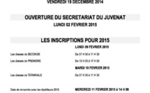 Le Calendrier 2014-2015